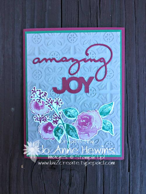 Amazing Joy First Frost by Jo Anne Hewins