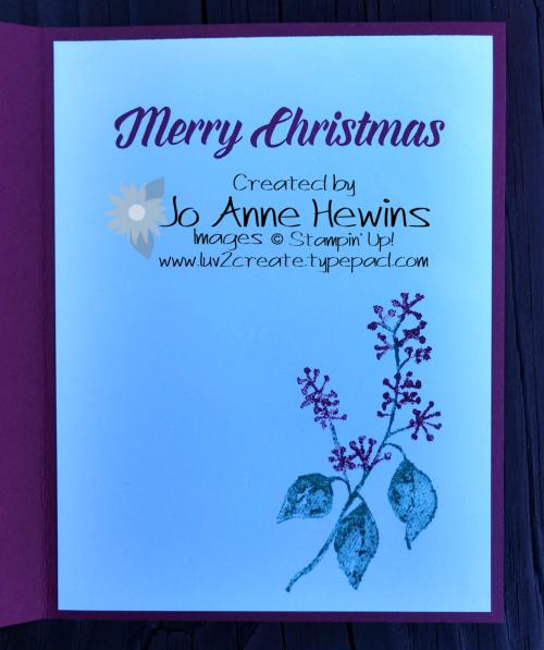 Amazing Joy First Frost inside by Jo Anne Hewins
