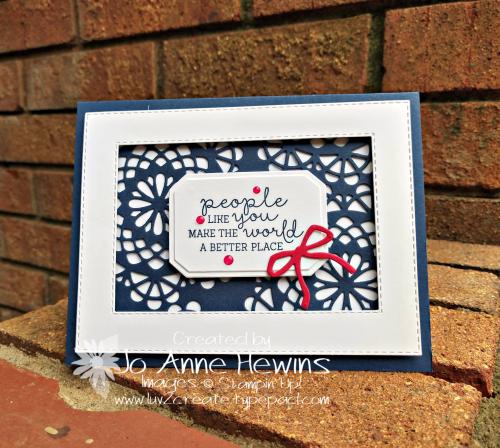 Dear Doily bundle card by Jo Anne Hewins