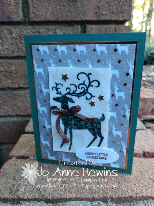 CCMC #537 Dashing Deer with Cracked Glass by Jo Anne Hewins