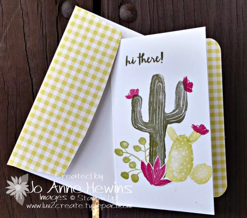 February OSAT Flowering Desert card with envelope