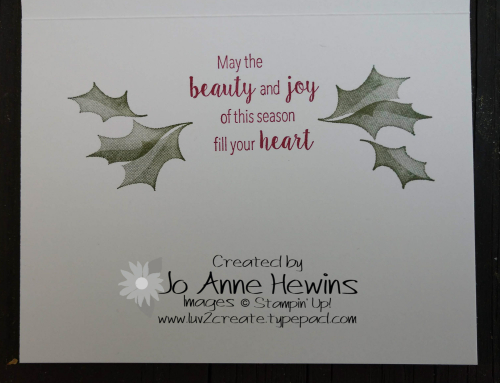 Stylish Christmas card inside by Jo Anne Hewins