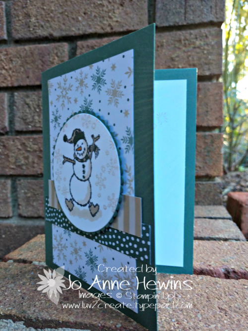 CCMC #538 Spirited Snowmen card by Jo Anne Hewins