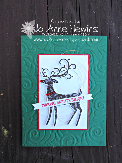 Dashing Deer card by Jo Anne Hewins
