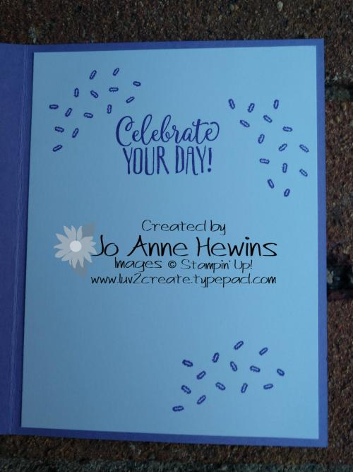 Hello Cupcake inside by Jo Anne Hewins