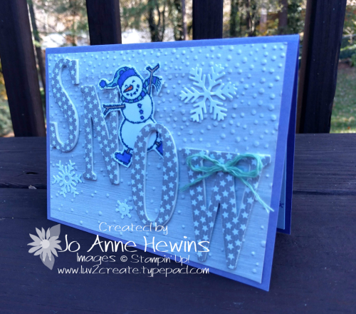 SNOW with Spirited Snowmen and Large Letters by Jo Anne Hewins