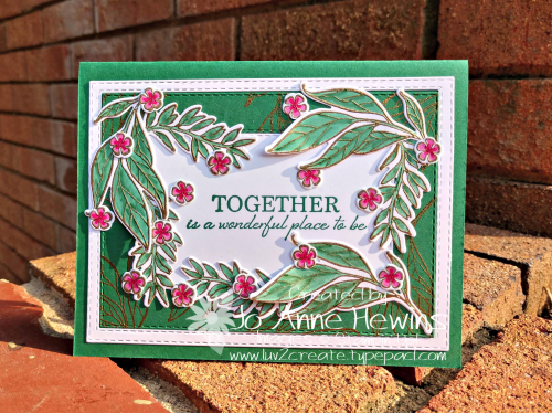 Wonderful Romance sentiment card by Jo Anne Hewins