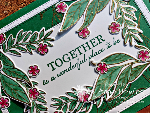 Wonderful Romance sentiment close up by Jo Anne Hewins