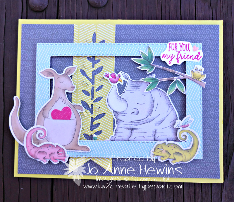 Be Mine Valentine Paper Pumpkin for January alternate card 2 by Jo Anne Hewins