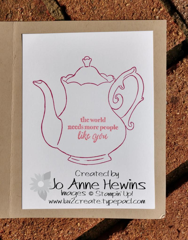 CCMC #545 Tea Time inside by Jo Anne Hewins