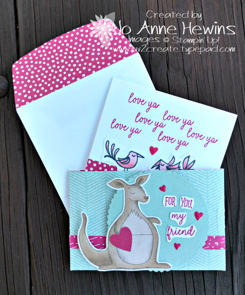 Be Mine Valentine Paper Pumpkin for January alternate card  and holder by Jo Anne Hewins