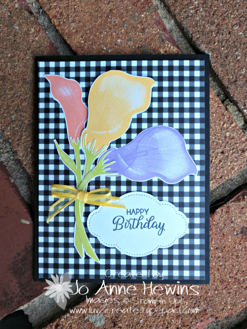 Lasting Lily card coordinates alternative for class by Jo Anne Hewins