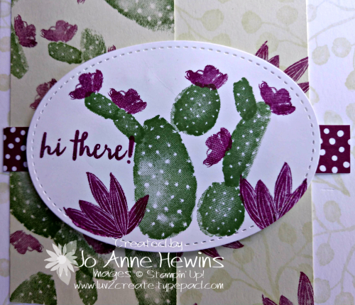 CCMC #548 Flowering Desert close up of card by Jo Anne Hewins