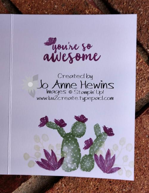 CCMC #548 Flowering Desert inside by Jo Anne Hewins