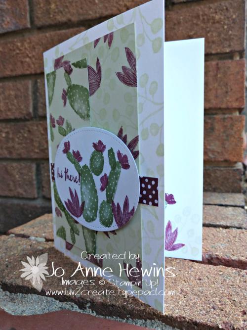 CCMC #548 Flowering Desert challenge card by Jo Anne Hewins