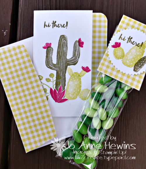 February OSAT Flowering Desert card and treet emsemble by Jo Anne Hewins