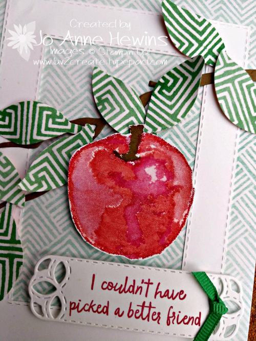 Picked for You Close Up of Card by Jo Anne Hewins