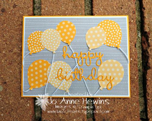 CCMC # 553 Balloon Bouquet Punch by Jo Anne Hewins