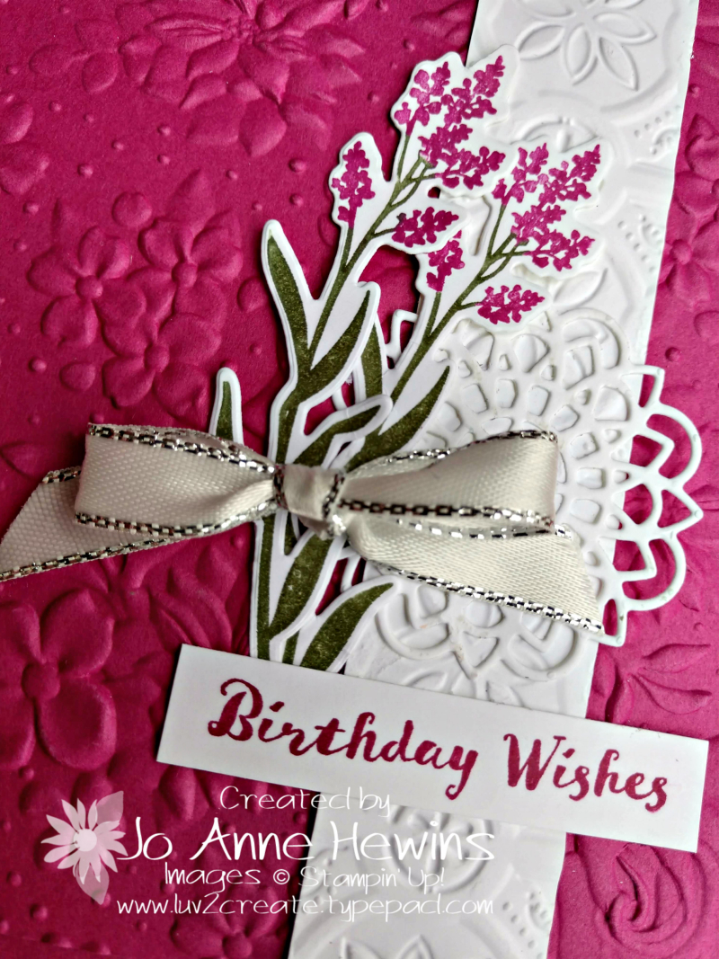 Country Floral EF and Dear Doily Close Up by Jo Anne Hewins
