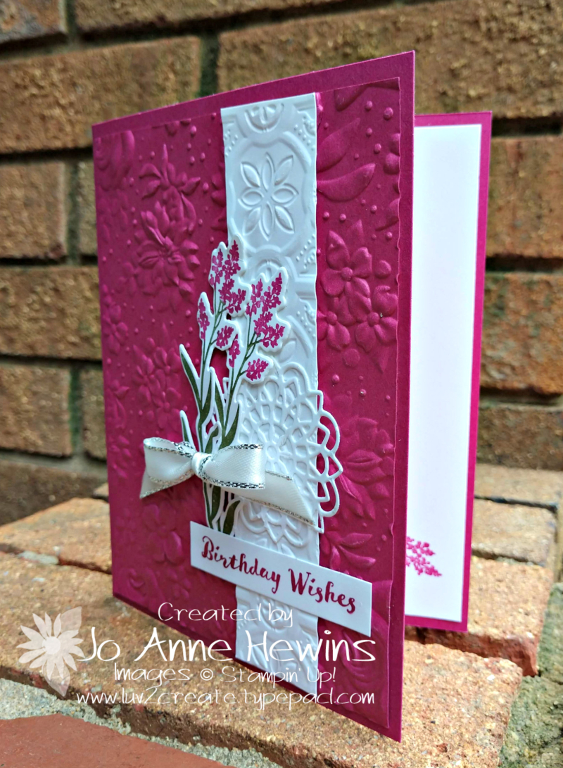 Country Floral Embossing Folder and Dear Doily by Jo Anne Hewins
