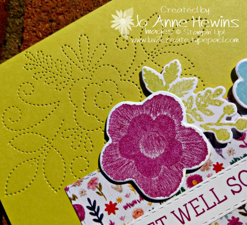 CCMC#544 Needle & Thread Lemon Lime Twist Class Card by Jo Anne Hewins