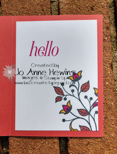 CCMC #555 Flourishing Phrases Inside by Jo Anne Hewins