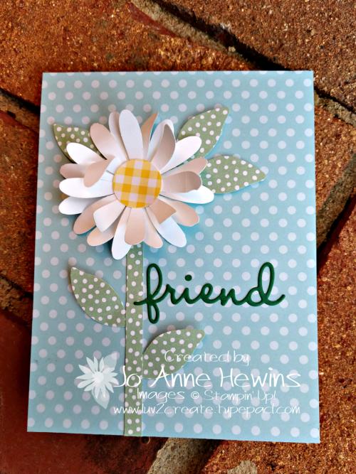 OSAT Daisy Punch Whisper White Flower Card by Jo Anne Hewins