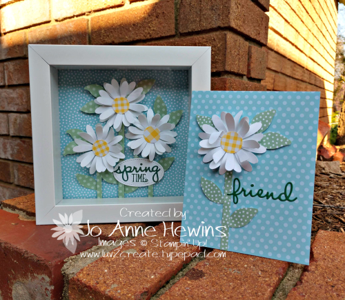OSAT Daisy Punch Flower Frame and Card by Jo Anne Hewins