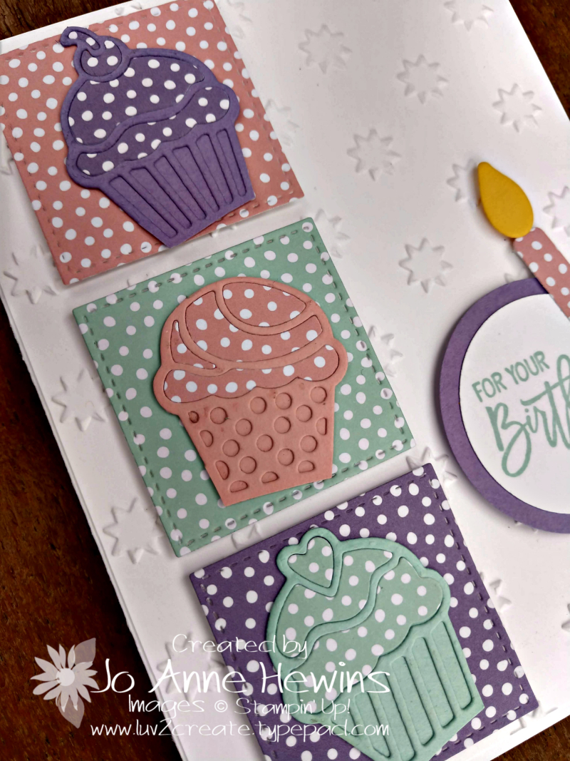 Birthday Cheer Close Up for Stamping Around the World by Jo Anne Hewins