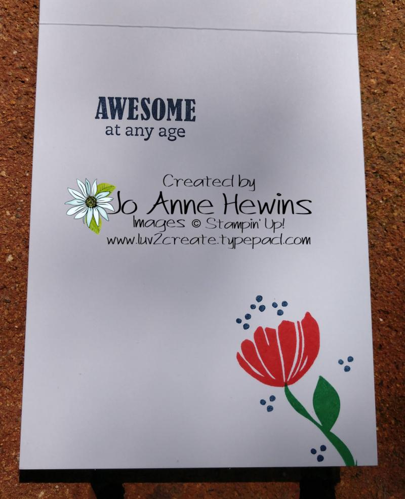 CCMC # 558 Bloom by Bloom Inside of card by Jo Anne Hewins