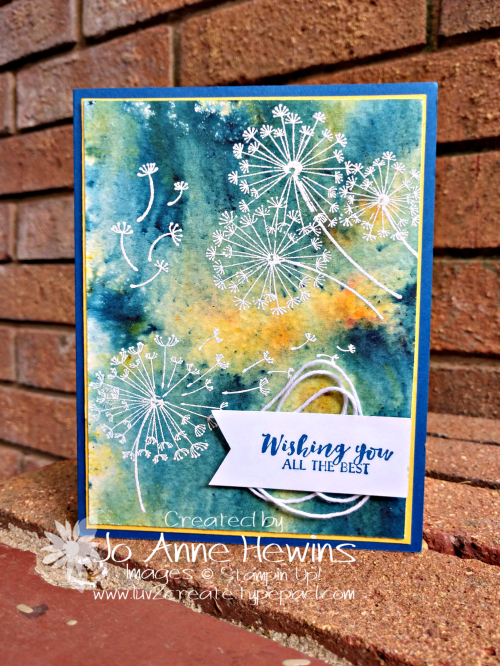 Dandelion Wishes Brusho by Jo Anne Hewins
