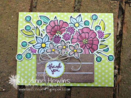 Falling Flowers Goodbye for NC Blog Hop by Jo Anne Hewins