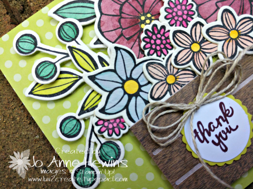 Falling Flowers Goodbye for NC Blog Hop Left Side of Card by Jo Anne Hewins