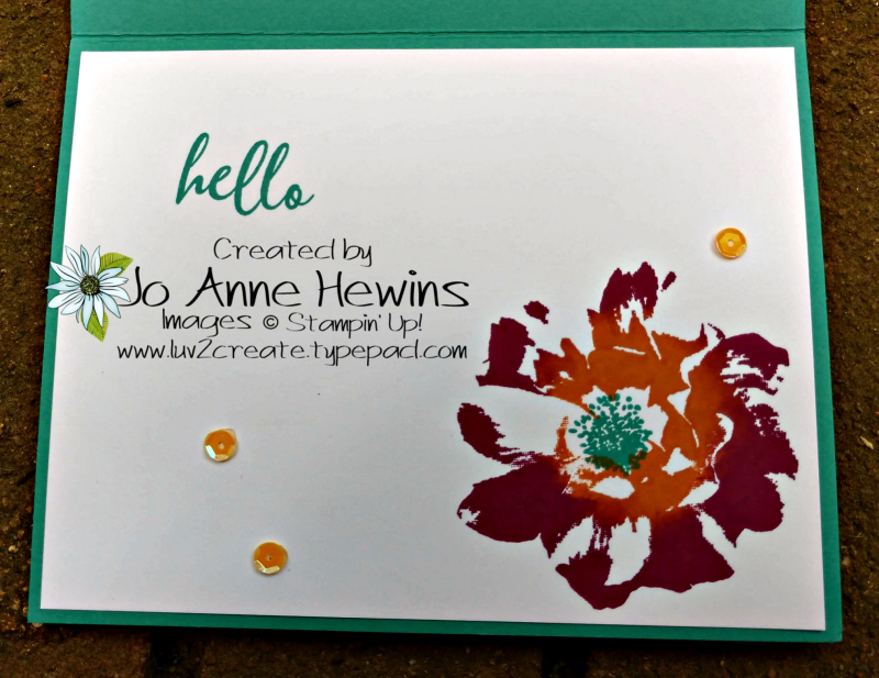 CCMC#563 To A Wild Rose Inside of Card by Jo Anne Hewins