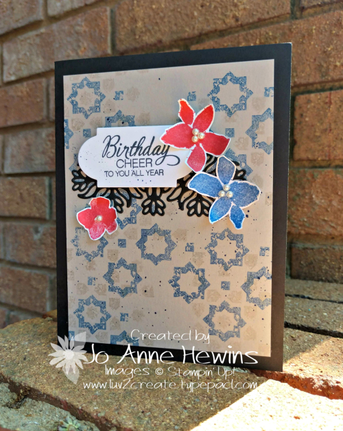 Color Fusers June Parcels & Petals Card by Jo Anne Hewins