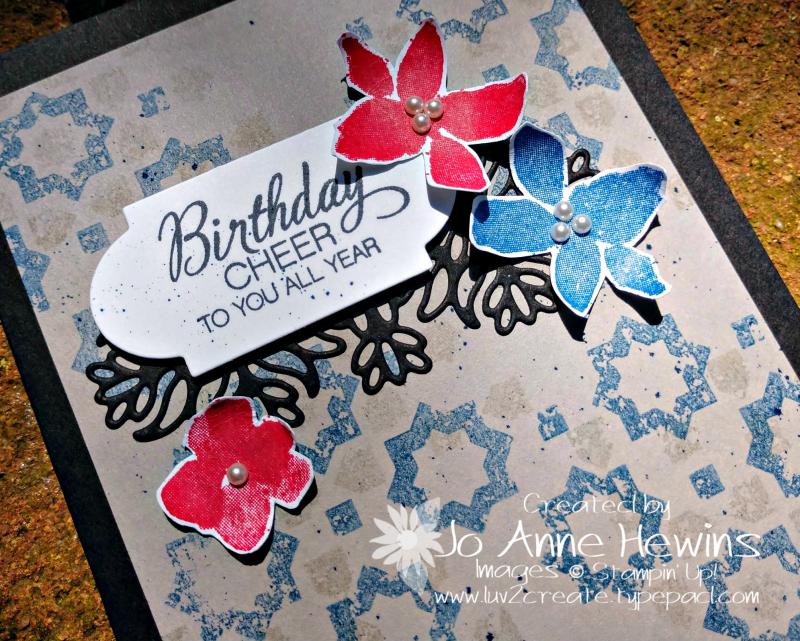Color Fusers June Parcels & Petals Close Up by Jo Anne Hewins