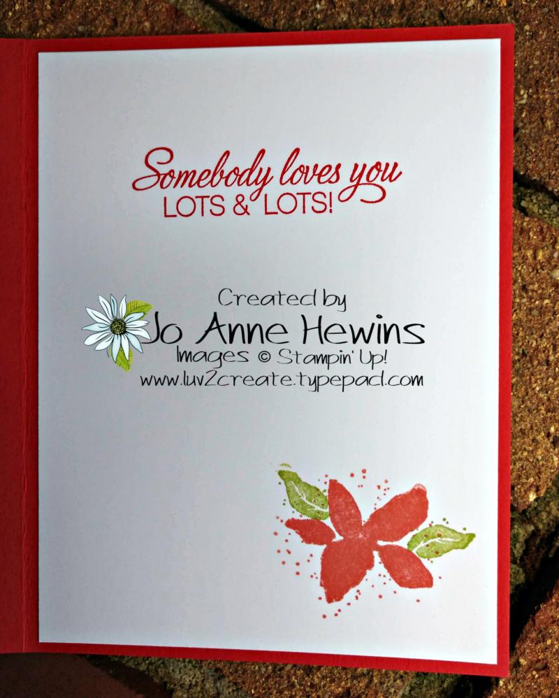 CCMC # 567 Parcels & Petals Inside of Card by Jo Anne Hewins