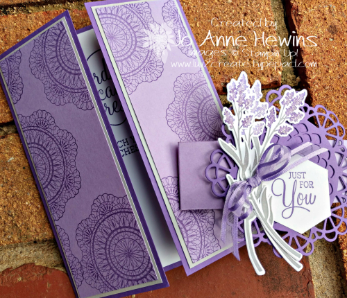 Color Fusers for March Dear Doily Bundle card and belly band by Jo Anne Hewins