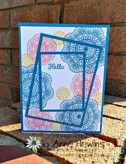 Dear Doily Triple Stamping card by Jo Anne Hewins