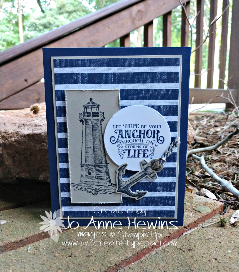 Come Sail Away for the Whisk & Barrel Card by Jo Anne Hewins