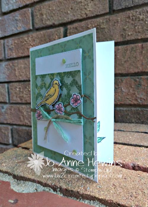 Free Bird Blog Card by Jo Anne Hewins