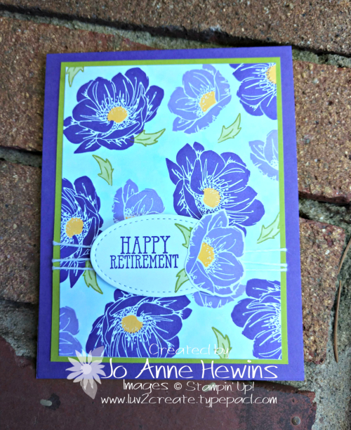 Floral Essence Retirement Card by Jo Anne Hewins