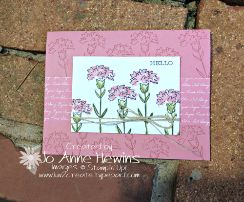 Inspiring Iris Whisk & Barrel for July by Jo Anne Hewins