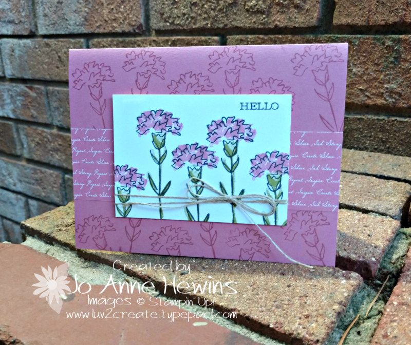 Inspiring Iris Whisk & Barrel Card by Jo Anne Hewins