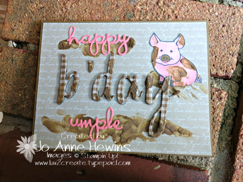 Hand Lettered Birthday Card and This Little Piggy Card by Jo Anne Hewins
