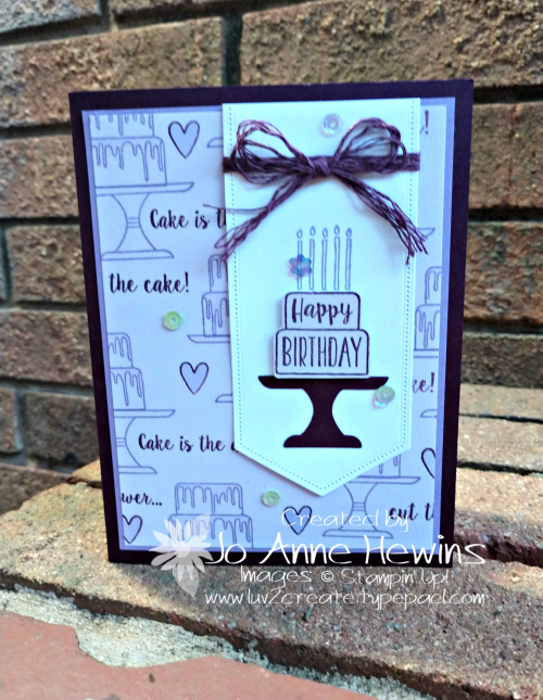 Piece of Cake Birthday Card by Jo Anne Hewins