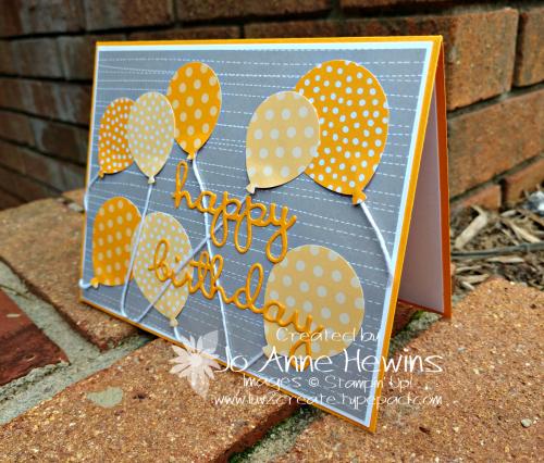 CCMC#553 Balloon Bouquet Card by Jo Anne Hewins