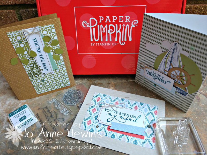 July 2019 Paper Pumpkin Kit by Jo Anne Hewins
