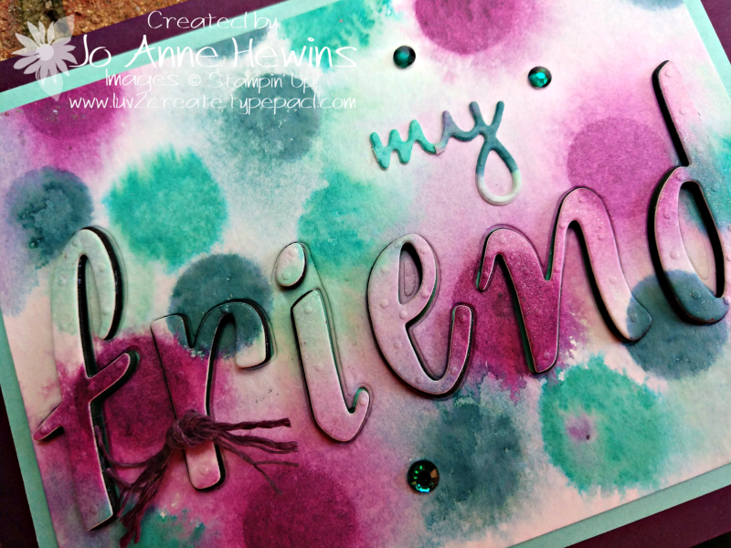 Color Fusers for August with Hand-Lettered Prose by Jo Anne Hewins