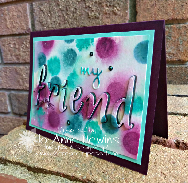 Color Fusers for August with Watercolor Background by Jo Anne Hewins
